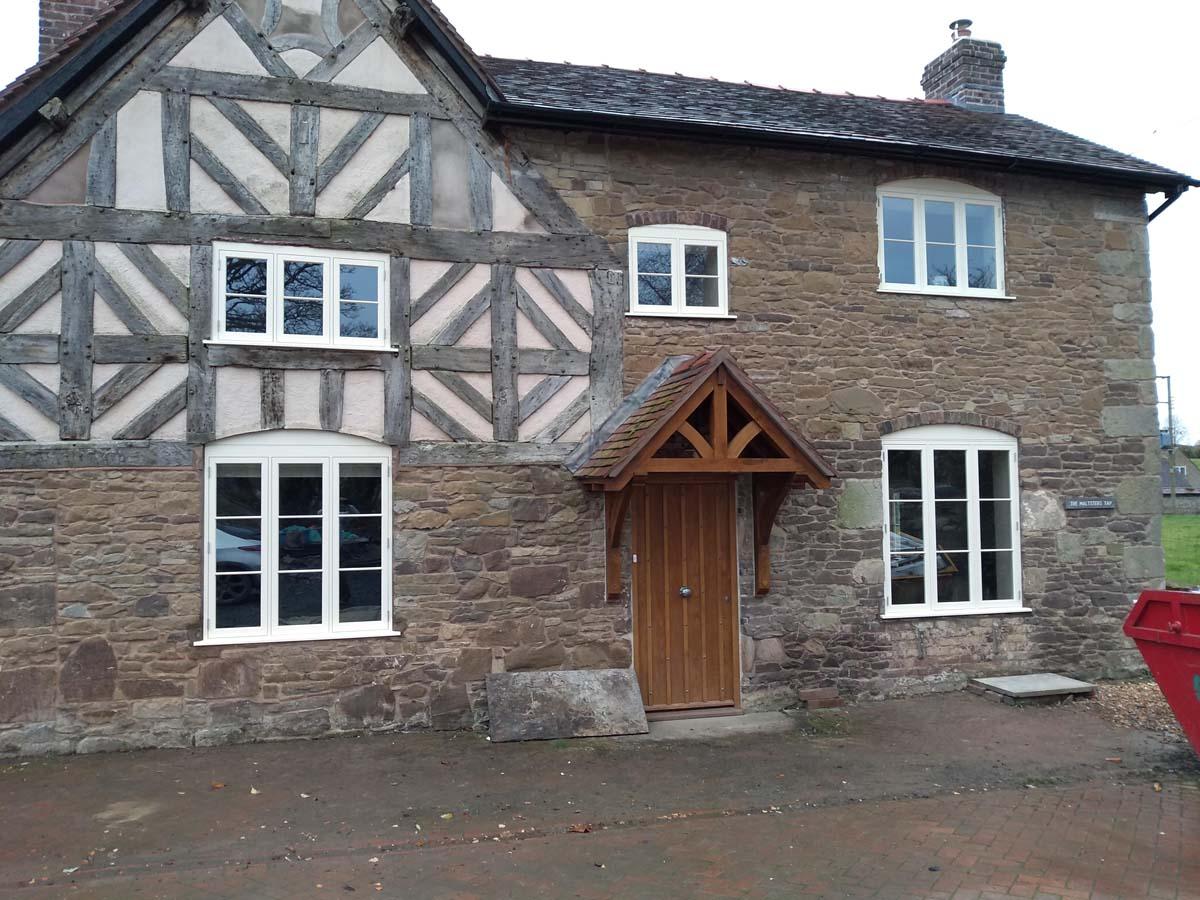 Tudor Oak Frame Richmond casements painted cottage style elevation external