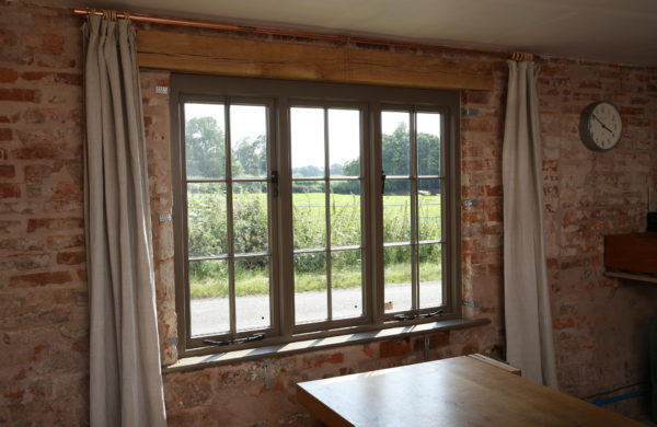 Heritage windows with vacuum glazing in a grade II listed property after renovation