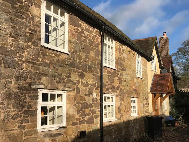 A grade 2 listed building needing double glazing