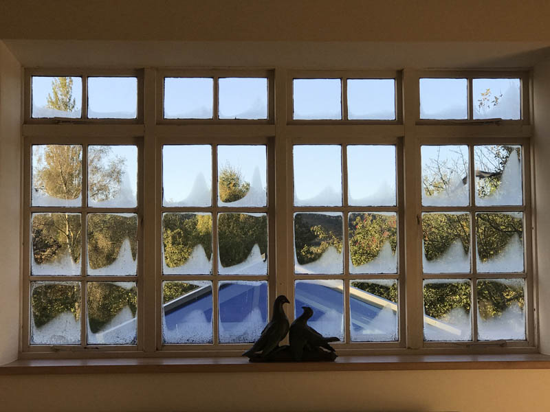 Windows in a Grade 2 Listed Building before replacement