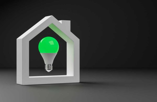 Green energy passive house graphic for vacuum windows