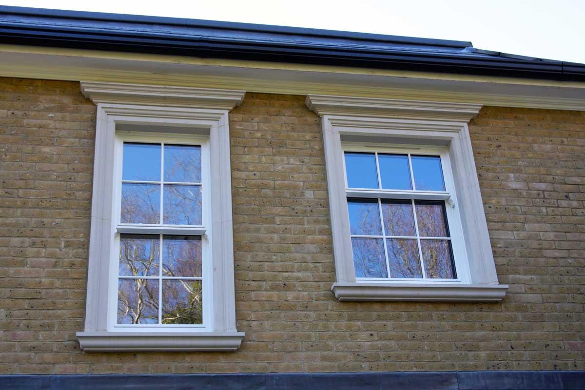 Double glazed sash windows in a georgian town house
