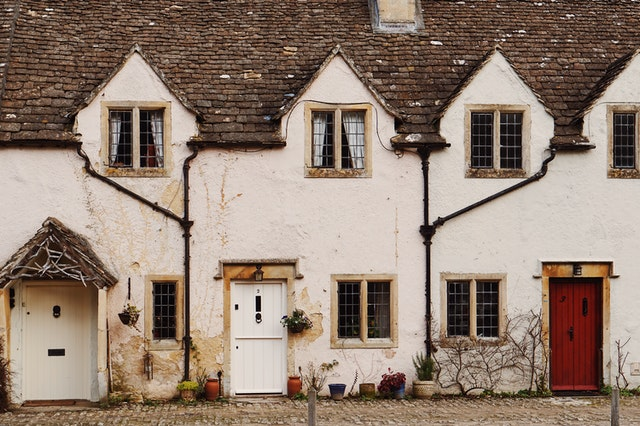 Windows for listed buildings - traditional cottages in a row